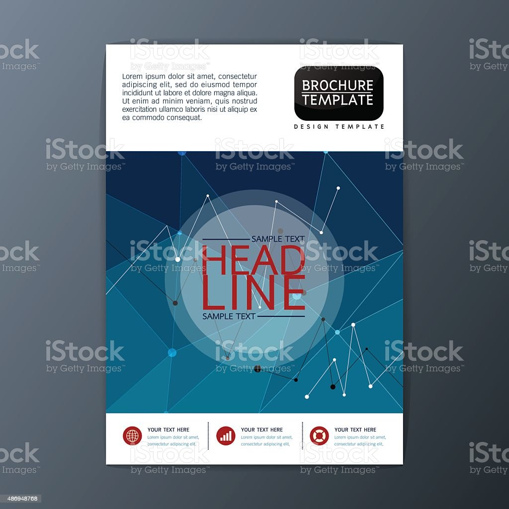 Vector Brochure Flyer Magazine: Flyer Magazine Brochure Template Abstract Cover Background