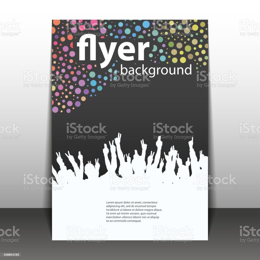 Flyer or Cover Design - Party Time vector art illustration