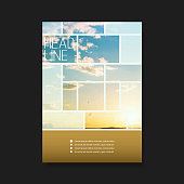 Abstract Business Background Template, Brochure, Flyer or Book Cover Design in Editable Vector Format