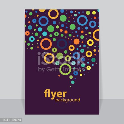Abstract Background Template, Brochure, Flyer or Book Cover Design in Editable Vector Format