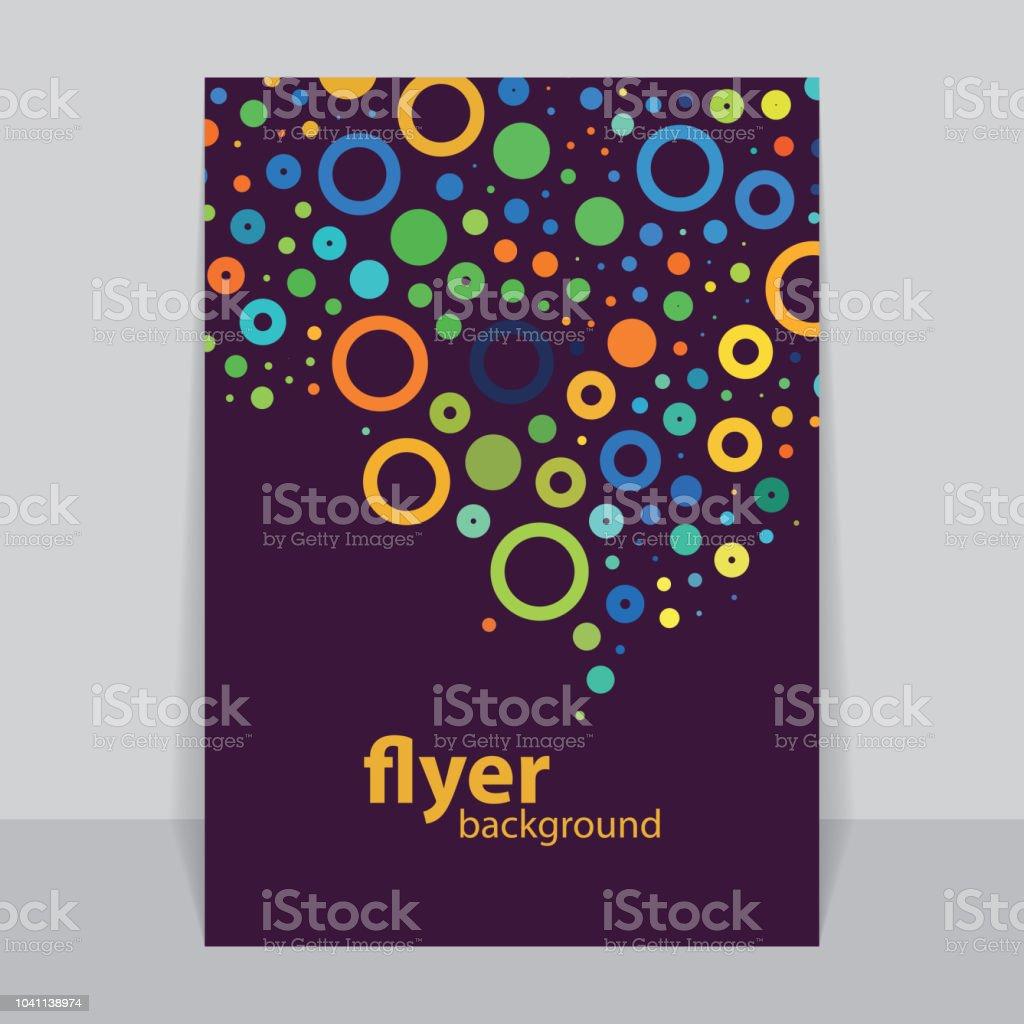 Flyer oder Cover-Design – Vektorgrafik
