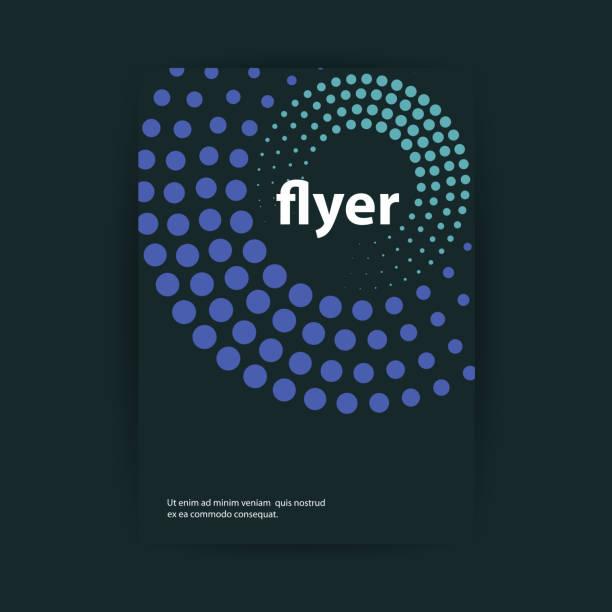 illustrazioni stock, clip art, cartoni animati e icone di tendenza di flyer or cover design - motivo concentrico