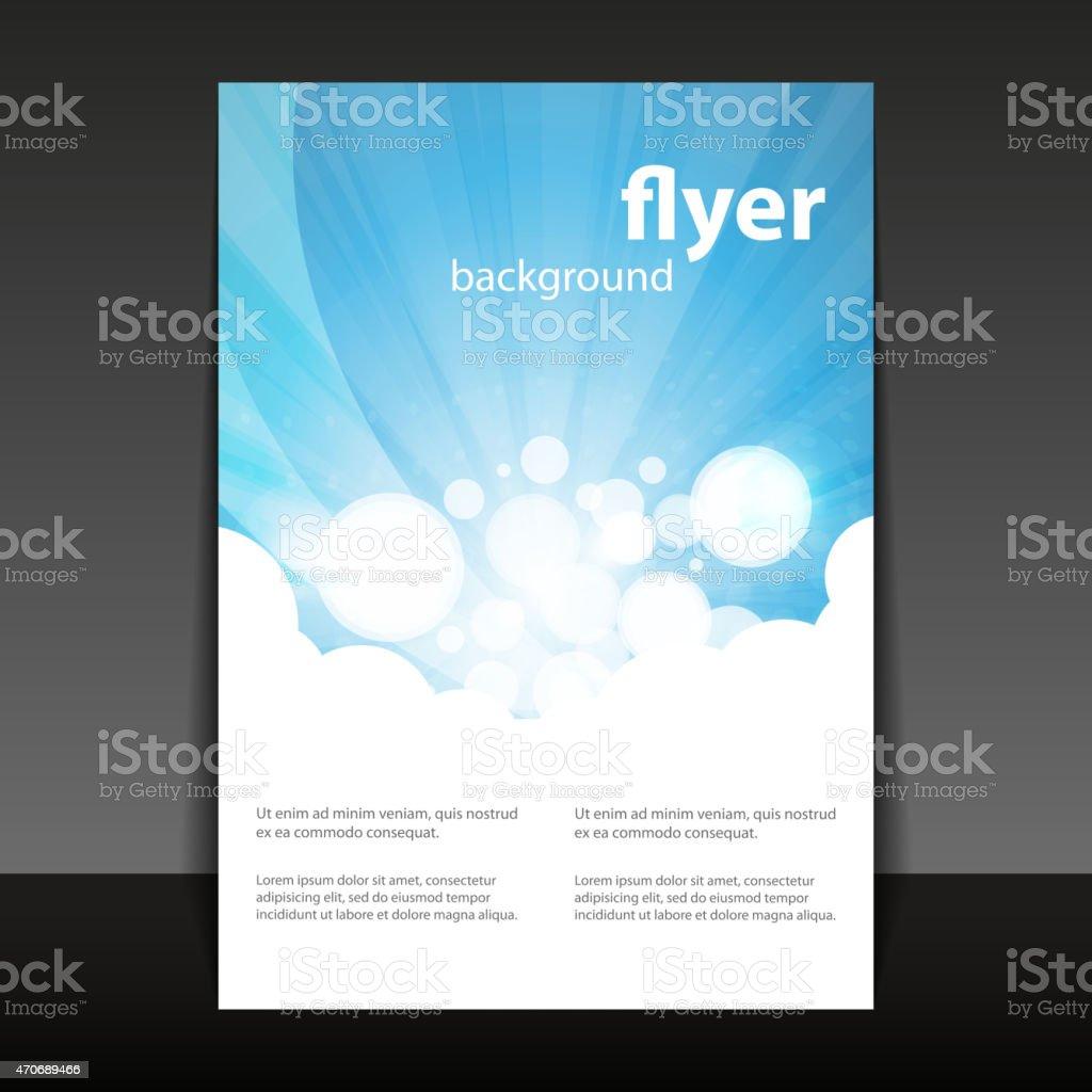 Flyer or Cover Design vector art illustration