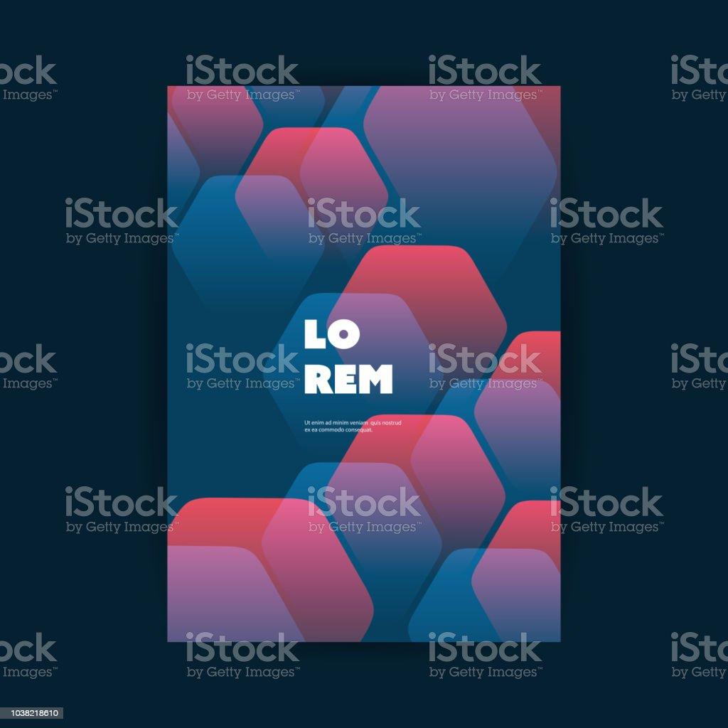 Flyer oder Cover-Design mit abstraktem Muster – Vektorgrafik