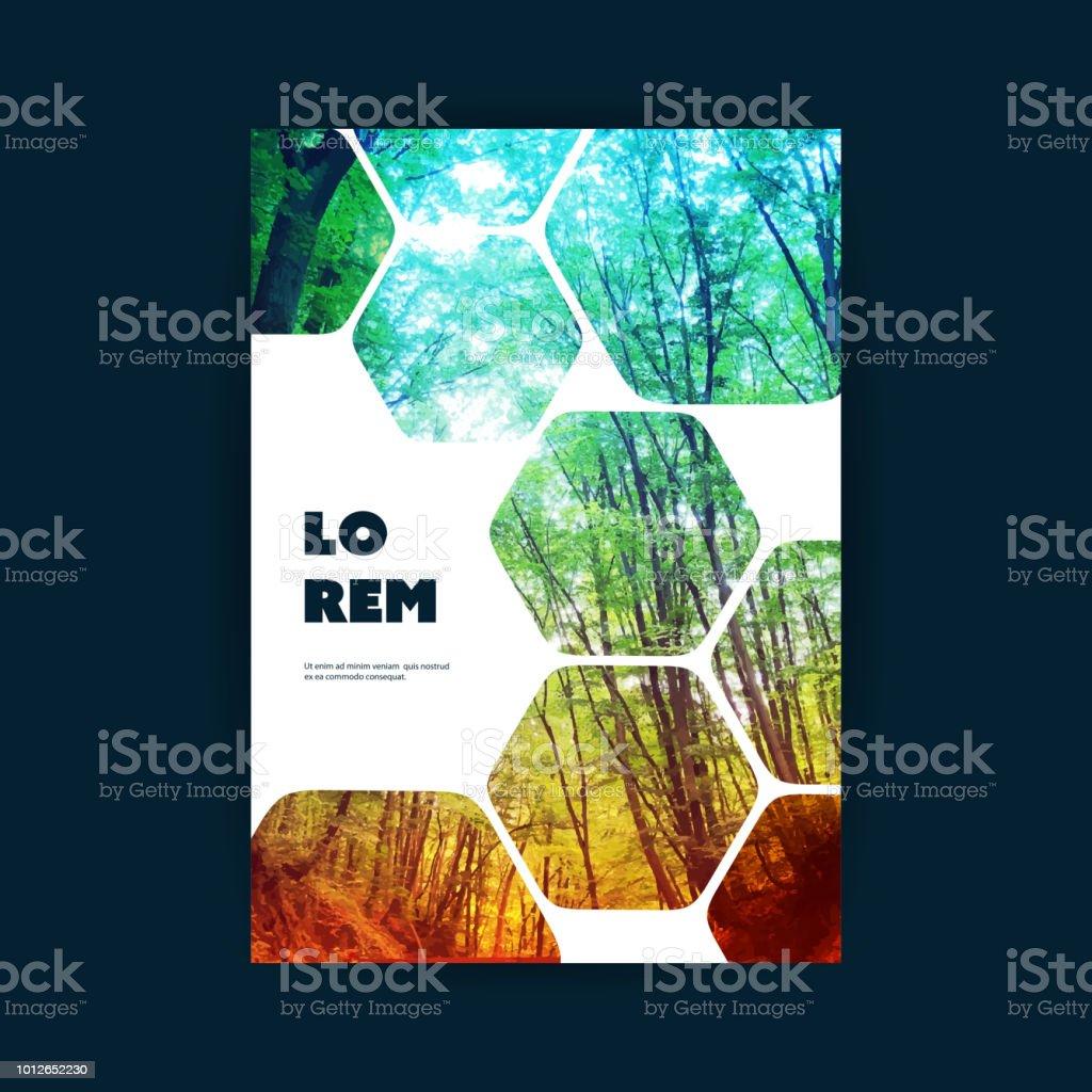 Flyer oder Cover-Design - Woodland – Vektorgrafik