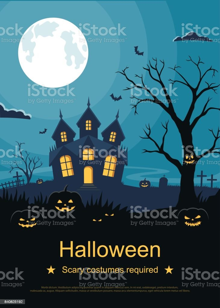 Flyer Or Invitation Card Template For Halloween Party Halloween ...