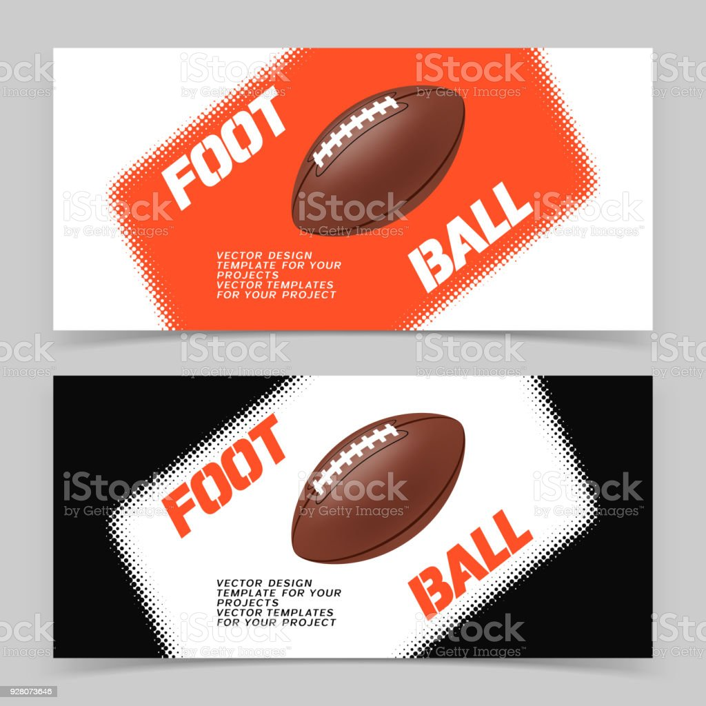 Flyer Or Web Banner Design With American Football Ball Icon Stock Illustration Download Image Now Istock