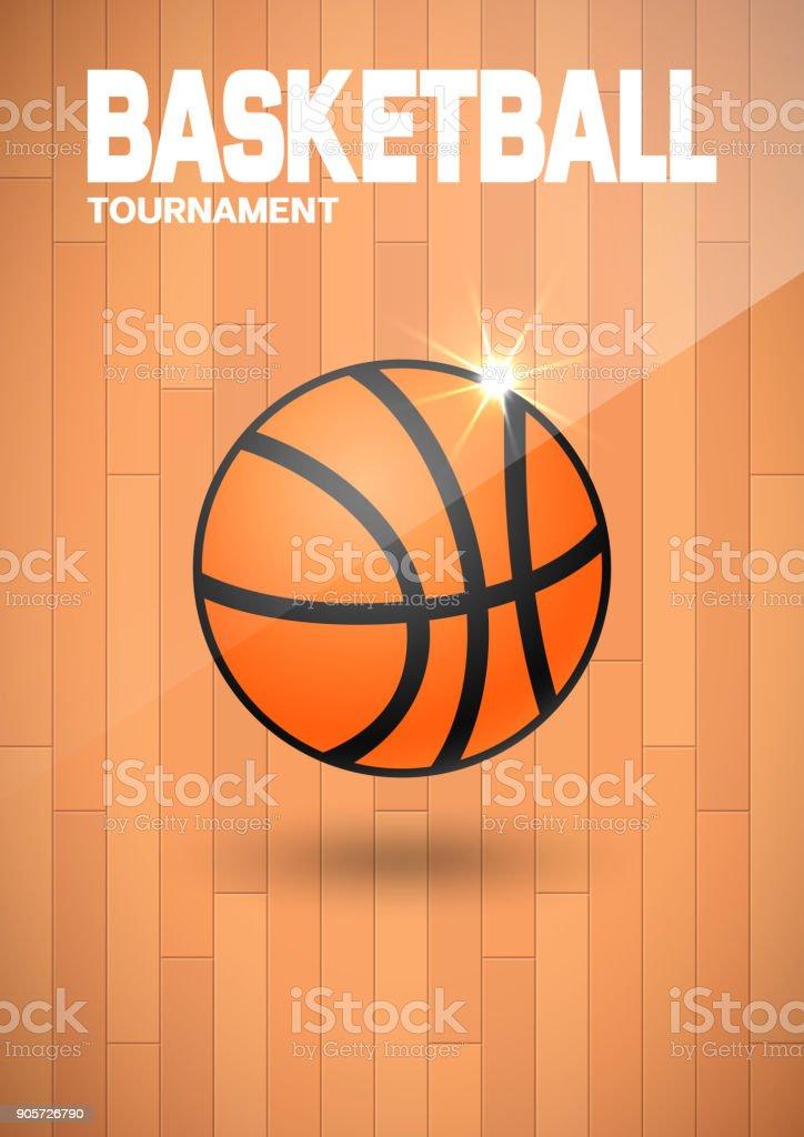Flyer Oder Webbannerdesign Mit Basketballkugelsymbol Stock Vektor ...
