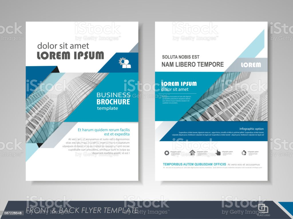 flyer presentation template royalty free flyer presentation template stock vector art more images