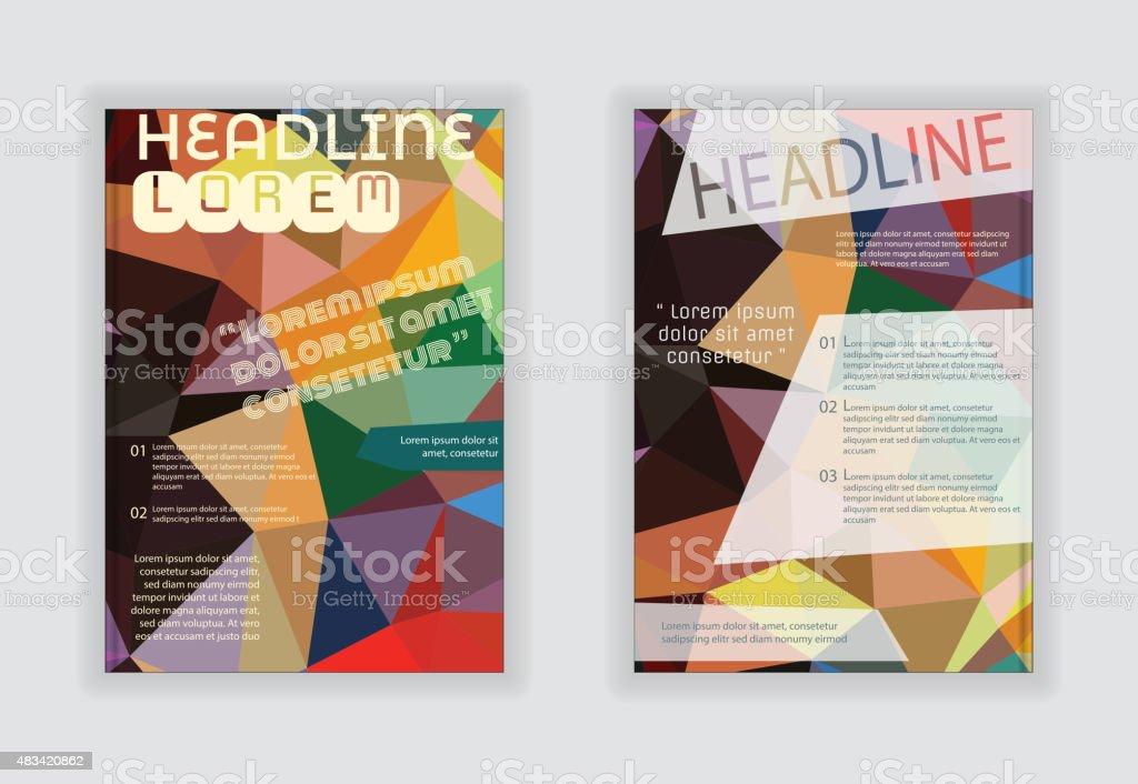 Flyer Template Back And Front Design Brochure Design Stock Vector