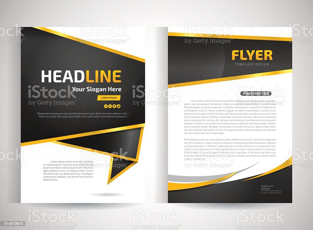 Flyer template. Business brochure. Editable A4 poster for design, vector art illustration