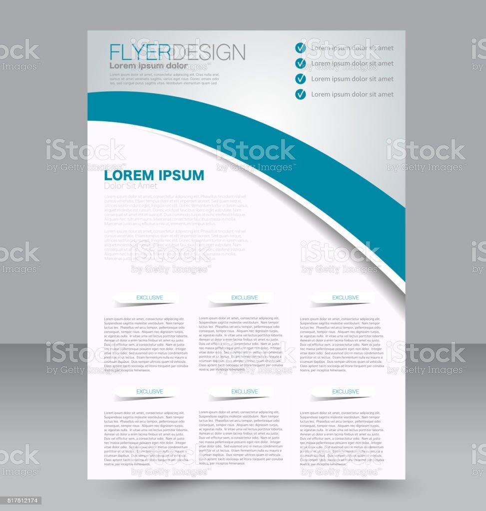 Flyer template. Business brochure. Editable A4 poster for design vector art illustration