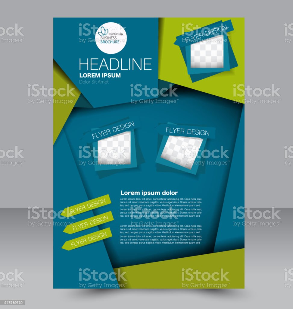 Flyer Template Business Brochure Editable A4 Poster For Design Stock
