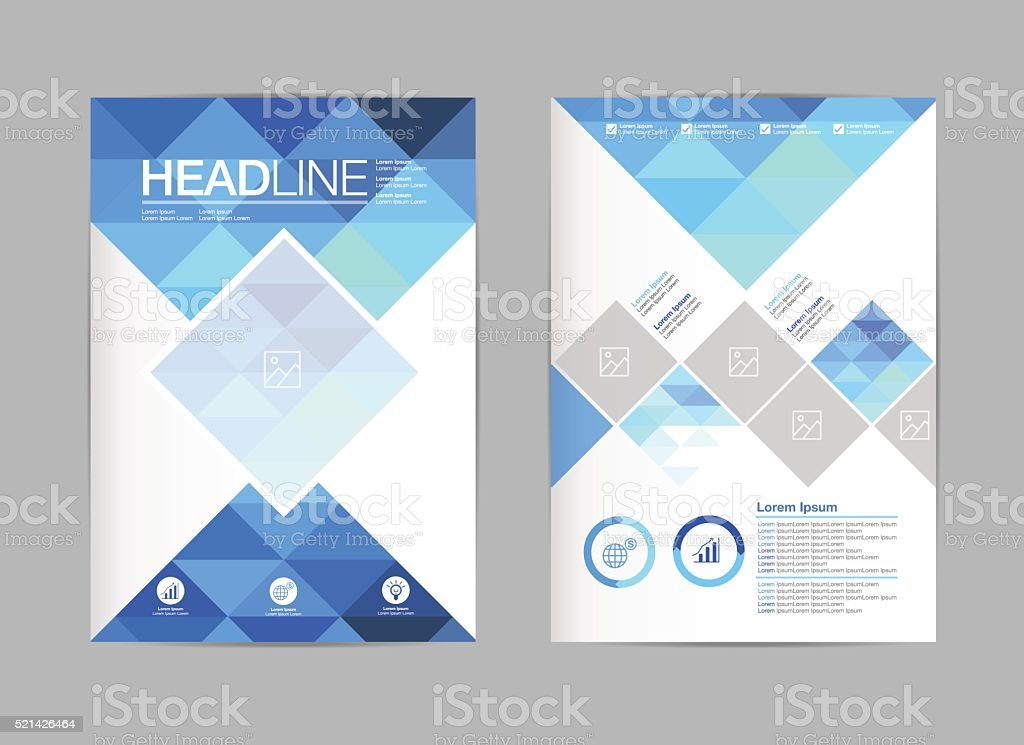 Flyer Template Design A4 Polygon Stock Vector Art More Images Of