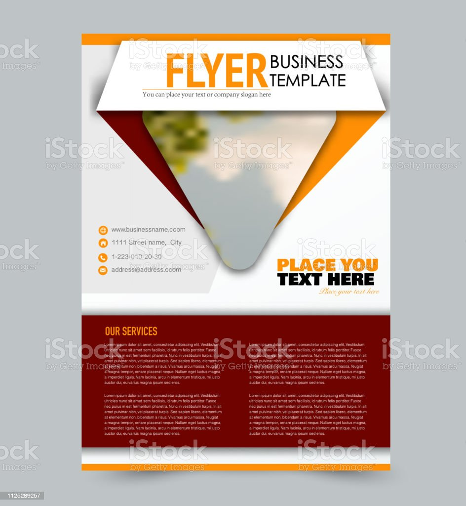 Flyer template. Design for a business, education, advertisement...