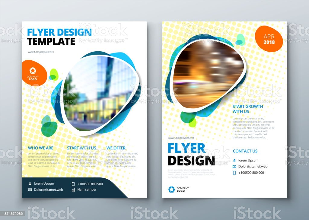 flyer template layout design business flyer brochure magazine or flier mockup in bright