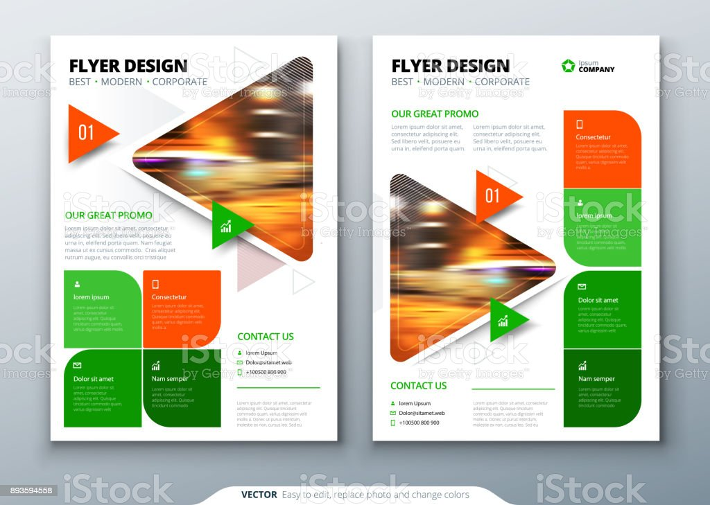 flyer template layout design business flyer brochure magazine or flier mockup with triangular