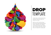 Flyer template with droplet
