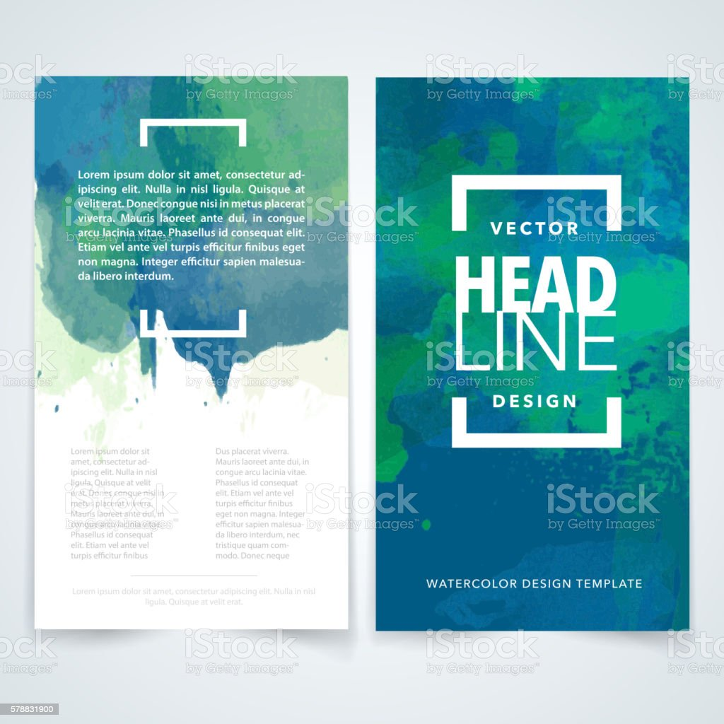 Design Template | Flyer Watercolor Design Template Stock Vektor Art Und Mehr Bilder