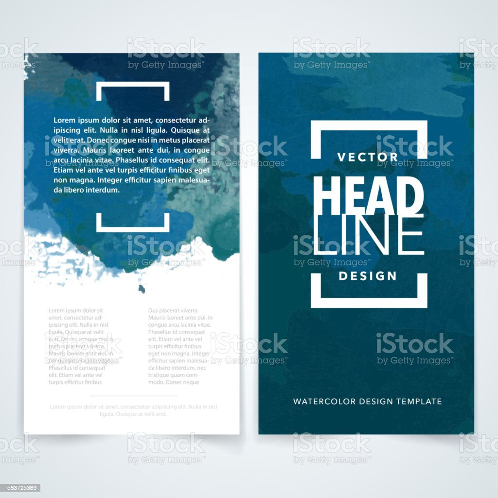 Flyer watercolor design template vector art illustration