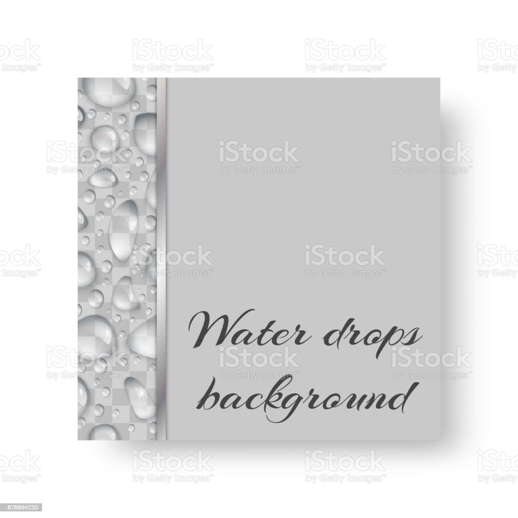 Flyer with drops of water vector art illustration