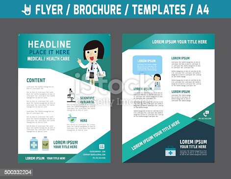 Flyerbrochuretemplatebusiness Health Care Stock Vector Art - Health brochure templates