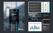Flyers Design Template. Business brochure flyer design. Annual report, leaflet, book cover design. Corporate report, advertising template in vector Illustration.