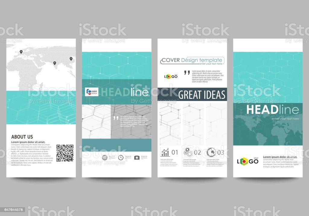 Flyerset Moderne Banner Businesstemplates Designvorlage Abstrakte ...