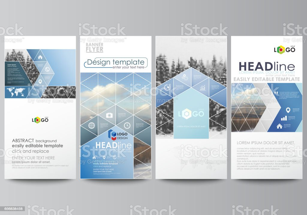 Flyers Set Modern Banners Business Templates Cover Design Template ...