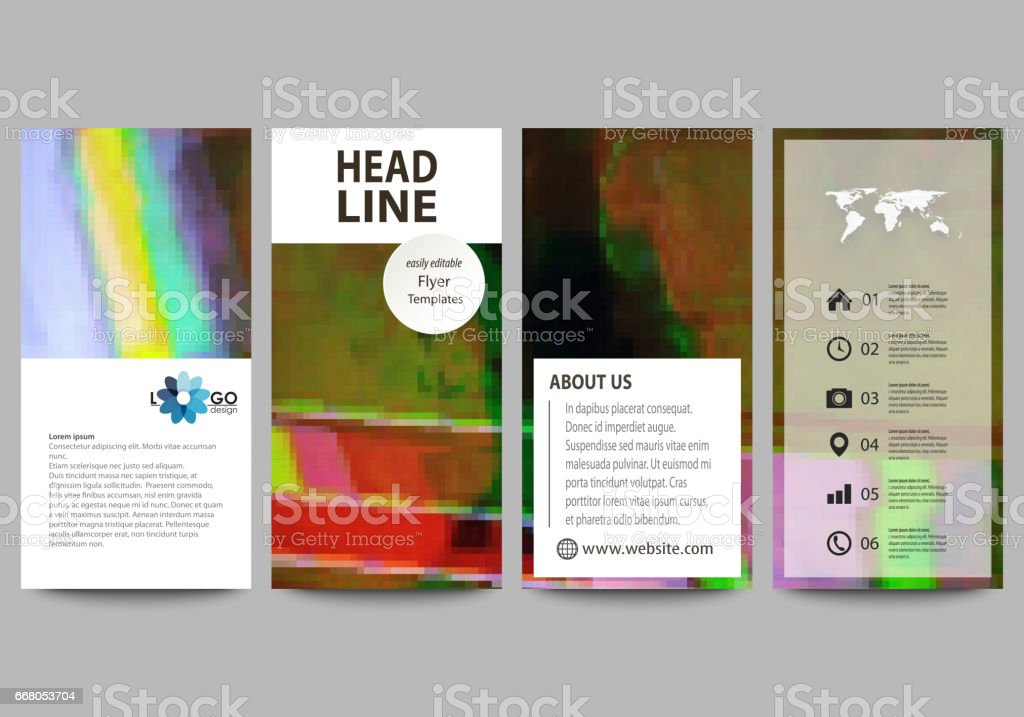 Flyers Set Modern Banners Business Templates Cover Design Template