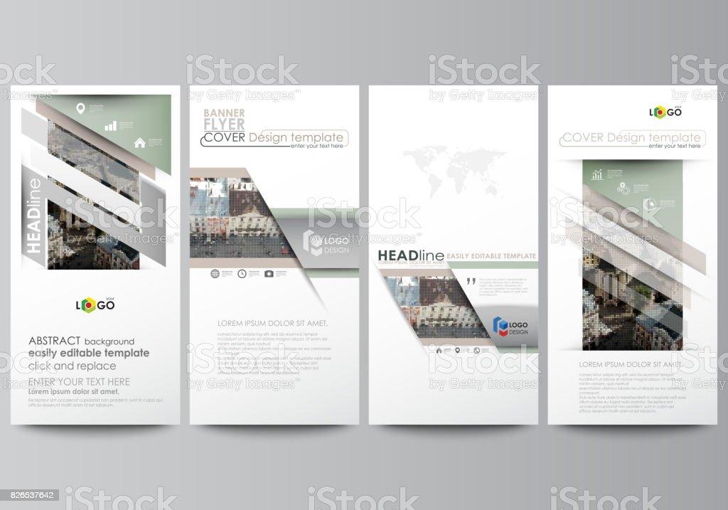 Flyerset moderne banner businesstemplates designvorlage for Decken streichen leicht gemacht