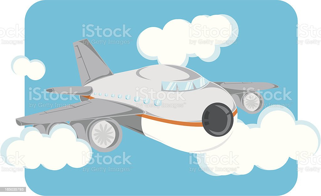 Flying Airplane royalty-free flying airplane stock vector art & more images of aerospace industry