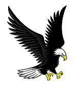 istock Flying bald eagle icon. 1304649910