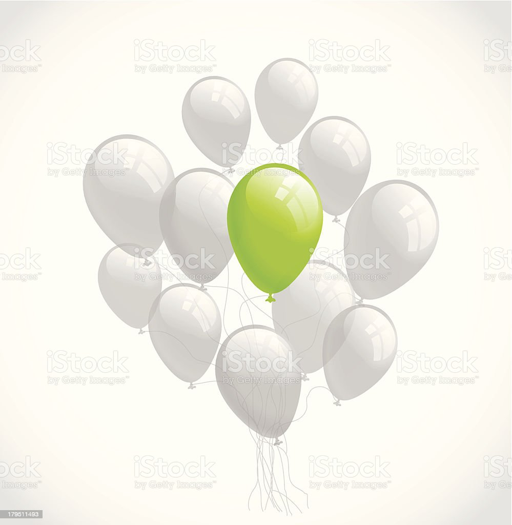 Flying balloons. Vector background royalty-free stock vector art