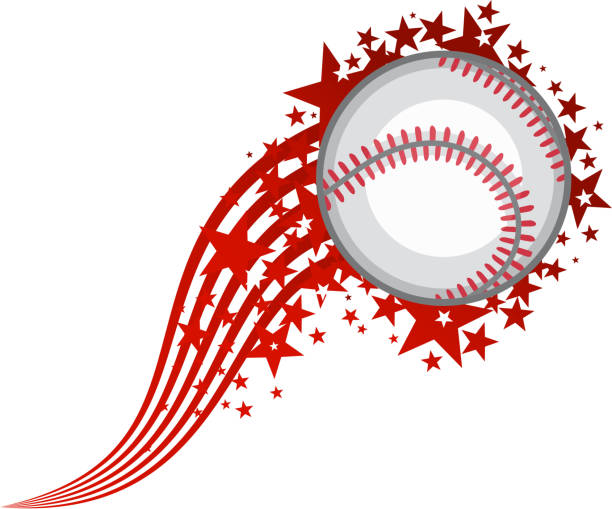 Flying Baseball-Ball – Vektorgrafik