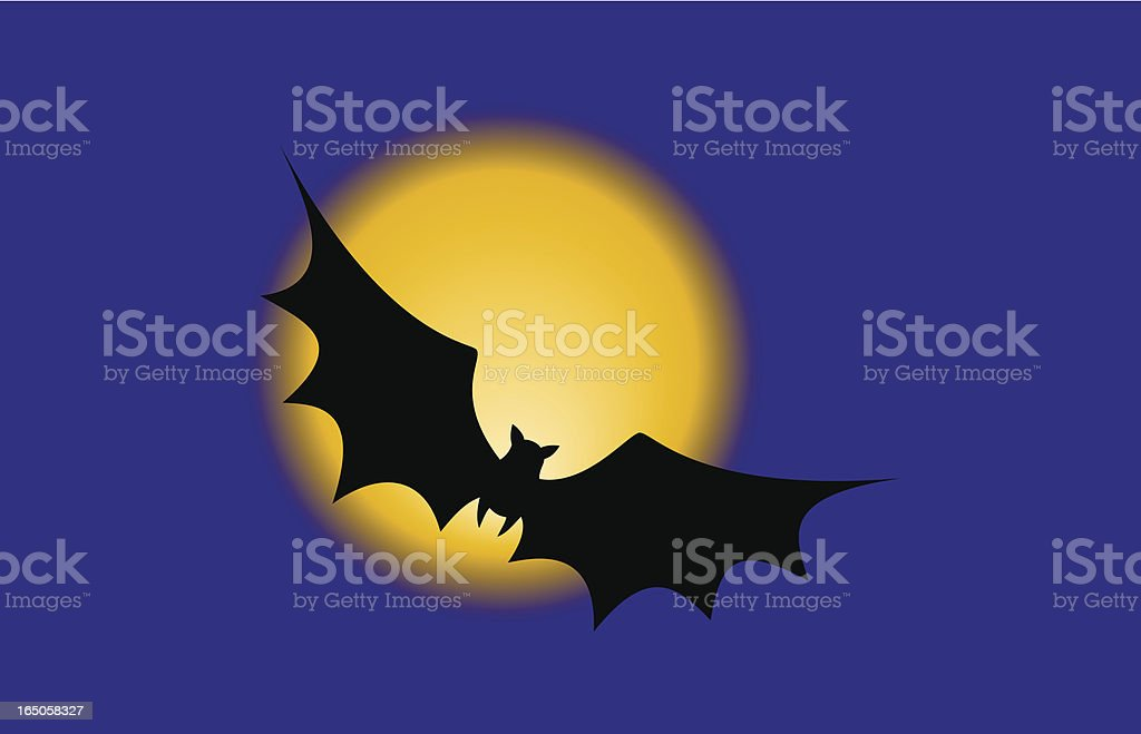 Flying Bat royalty-free stock vector art
