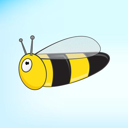 Flying Bee Cartoon