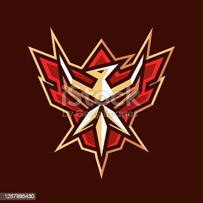 istock flying bird emblem logo design 1257995430