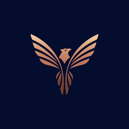 Flying bird vector logotype concept.