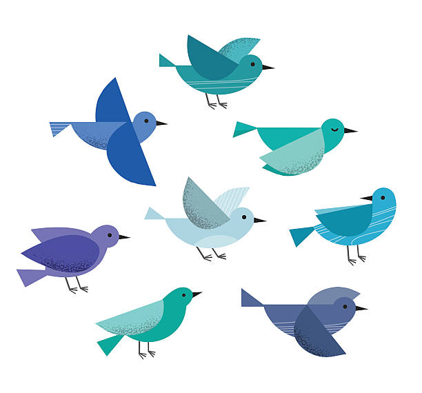 flying birds - birds stock illustrations