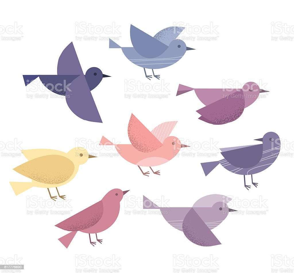Flying birds - Royalty-free Abstract stock vector