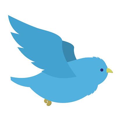 Flying blue bird illustration