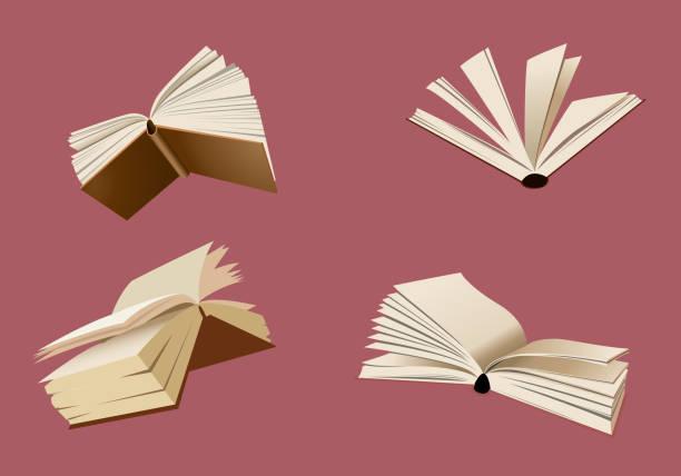 illustrations, cliparts, dessins animés et icônes de illustration de vecteur livres volants - voler