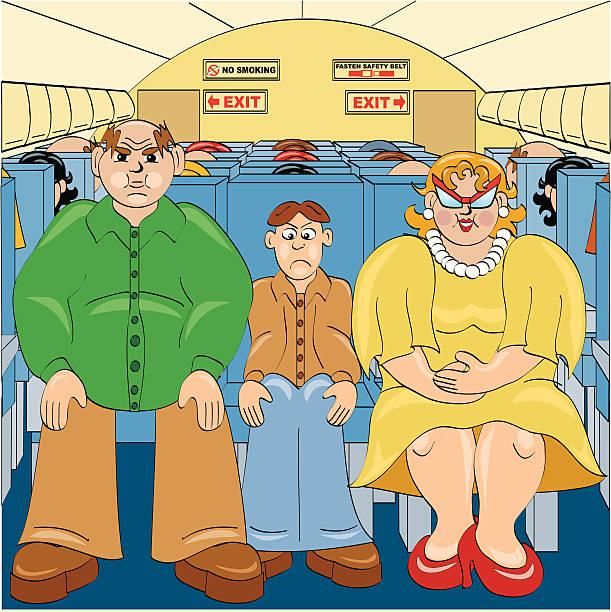 illustrazioni stock, clip art, cartoni animati e icone di tendenza di volare allenatore - sedili aereo