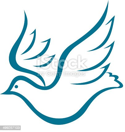 Flying Dove Of Peace Stock Vector Art & More Images of ...