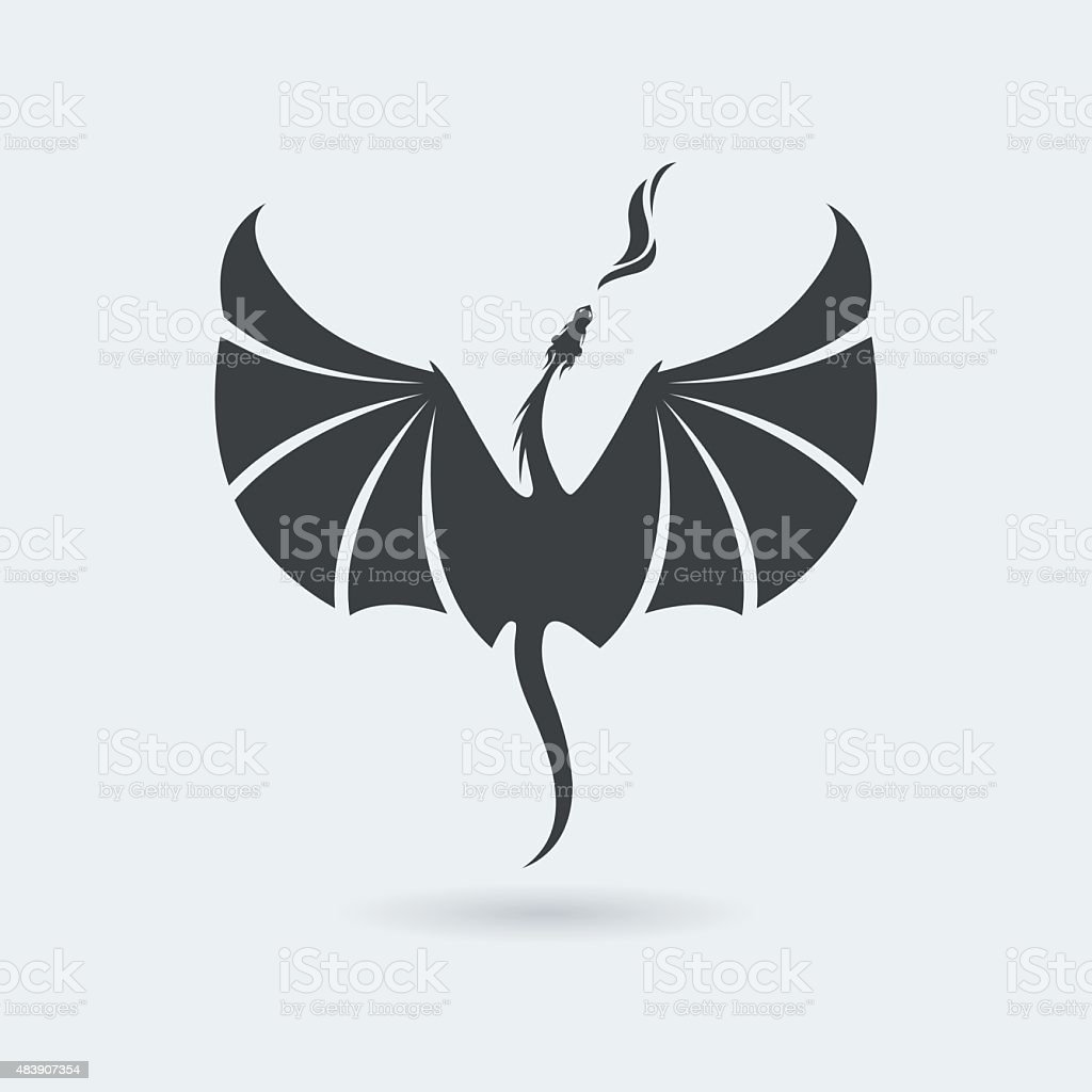 Flying Dragon icon vector art illustration