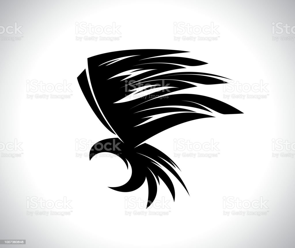 Flying eagle bird tattoo stock vector art more images of abstract flying eagle bird tattoo royalty free flying eagle bird tattoo stock vector art amp altavistaventures Gallery
