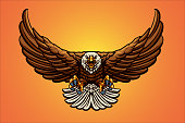istock Flying Eagle Mascot Vector Illustrations 1299457379