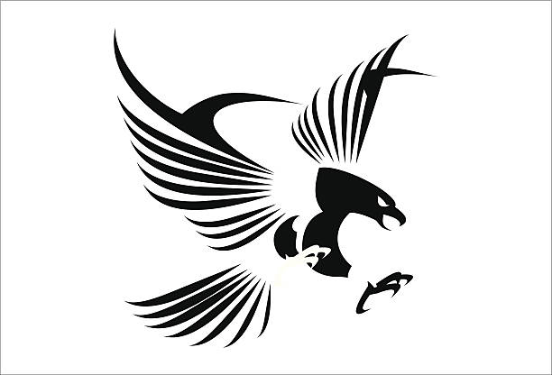 Royalty Free Black Eagle Clip Art, Vector Images