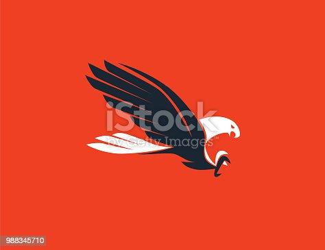 vector illustration of flying eagle symbol